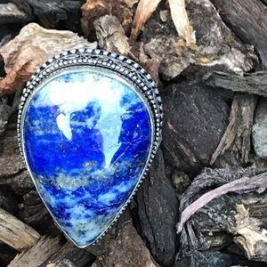 Sundance LAPIS LAZULI RING sterling silver stone